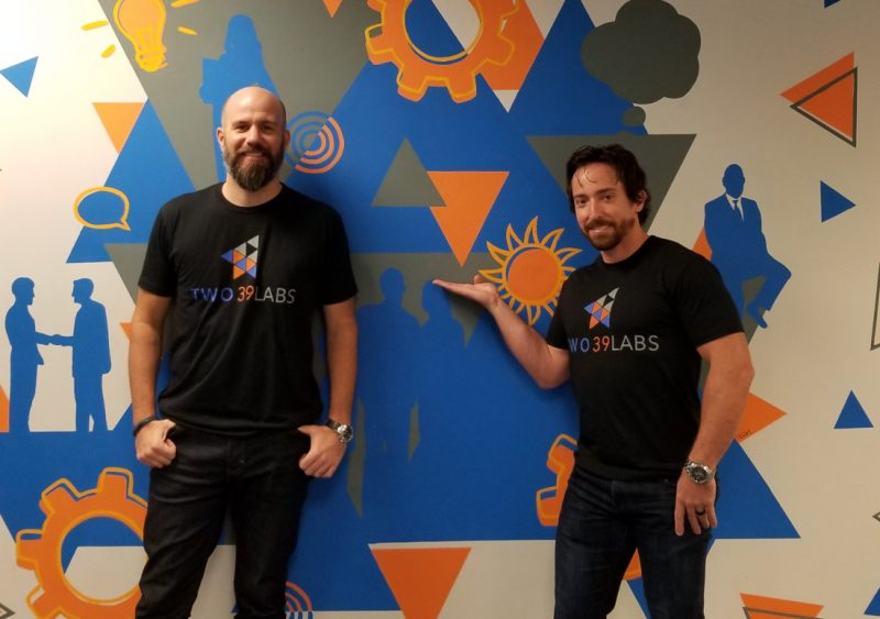 Dave Desmarais and Jeff Collins of Tailored at Two39 Labs