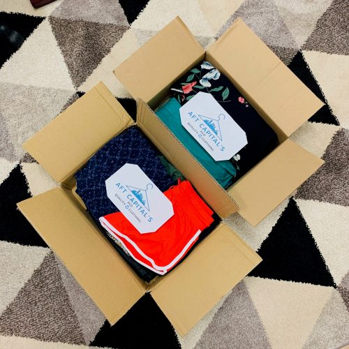 Eco Quality Clothing shipment in a box