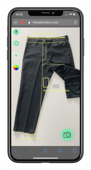 made to measure clothing technology for online stores