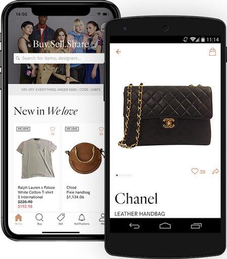 Vestiaire Collective app
