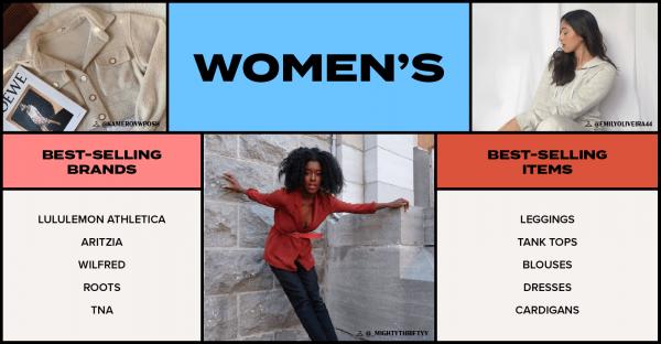 Women's popular resale items