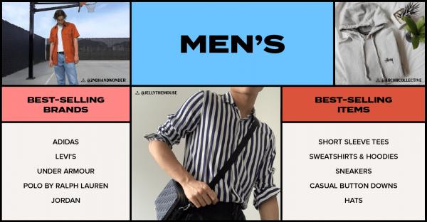 men's popular resale items